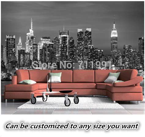 fresque murale new york aliexpress acheter personnalis 233 papier peint vintage vinilo new york nuit fresques salon