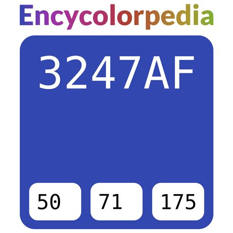 Includes conversions, schemes and much more. #3247af Hex Color Code, RGB and Paints