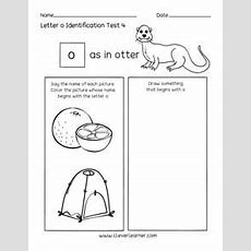 Fun Letter O Identification Activity And Test Sheets For Preschools And Kindergartens