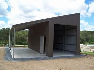 Skillion Roof Sheds/Garages - Designs Fair Dinkum Sheds