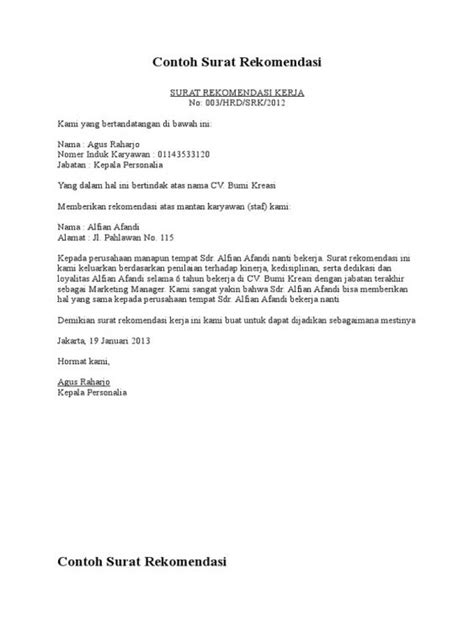 Contoh Surat Pemindahan Jabatan by Contoh Surat Usulan Promosi Jabatan Sumber Contoh