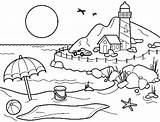 Coloring Vacation Pages Summer Getcolorings sketch template