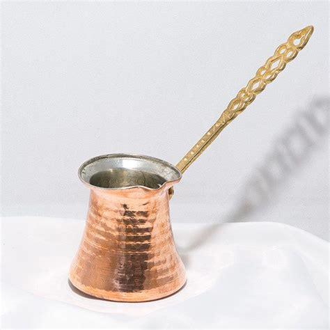 The turkish coffee pot is an interesting utensil that we use to make turkish espresso. X-large Traditional Turkish Coffee Copper Pot   Ekstra Large Bakir Kahve Cezvesi   Ibrik   Briki ...