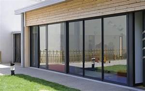 Baie Vitrée Coulissante Alu : une baie vitr e coulissante en aluminium design et ~ Melissatoandfro.com Idées de Décoration