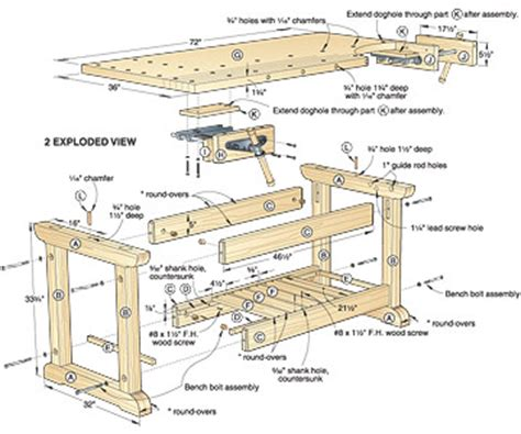 traditional workbench plans  woodworking