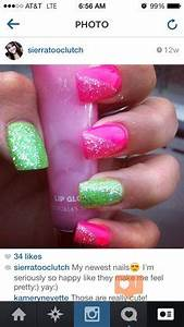 Lime green Hot pink Acrylic