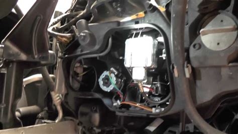 diy xenon bulb replacement  bmw   youtube