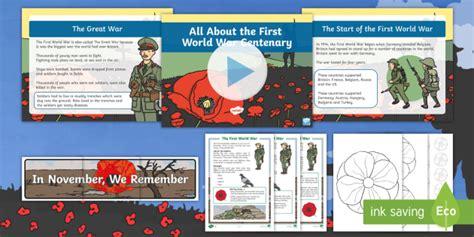 * New * Ks1 All About The First World War Centenary Resource