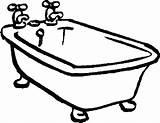 Bathtub Drawing Coloring Tub Clawfoot Bath Printable Drawings Pages Clip Vector Fun Getdrawings Curious George Clipartmag Getcolorings sketch template