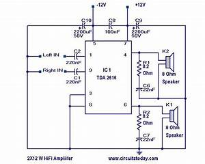 Hi Fi Amplifier Circuit With Diagram And Schematic Using