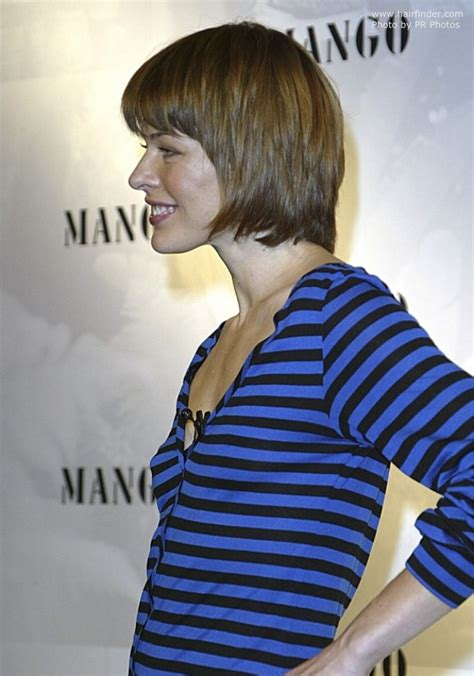 milla jovovich   hair cut   sleek short style  helmet shape