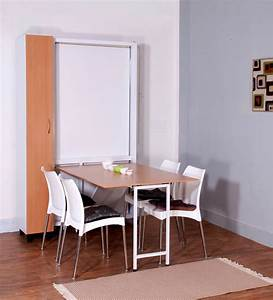 space saver dining set to create accessible dining space With table a manger escamotable