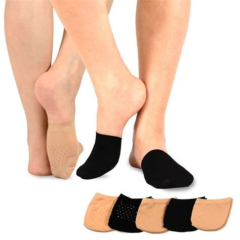 toe toppers teehee womens seamless toe topper liner socks 5 pack with
