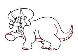 Dinosaur Cartoon Drawings