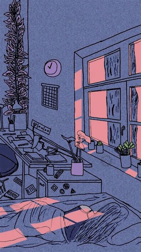 aesthetic bedroom drawing trendecors