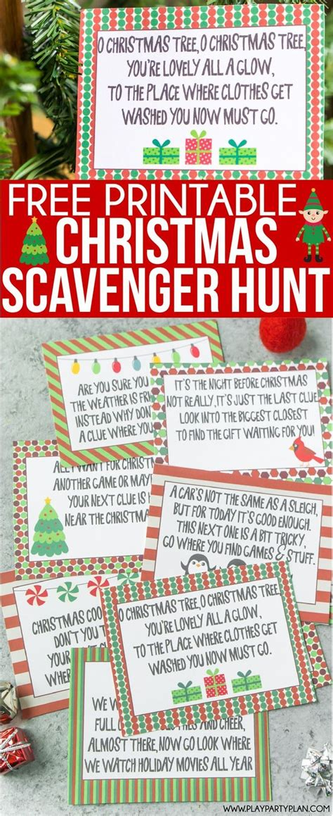 christmas scavenger hunt play party plan
