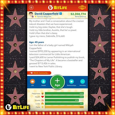famous bitlife career become celebrity simulator superstar figured every paths gain fame haven yet seen few still comments updated mobile