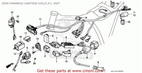 honda xr250r 1994 r belgium wire harness ignition coil c d i unit buy wire harness