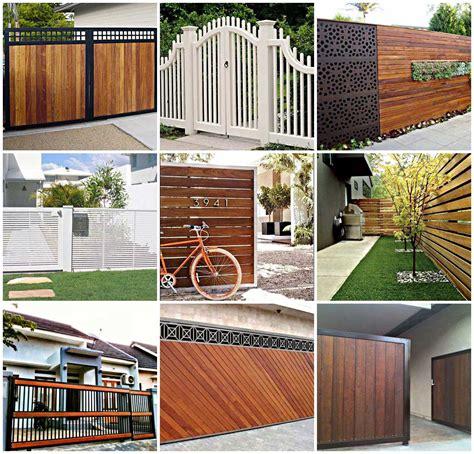 keren  model pagar rumah minimalis modern terbaru