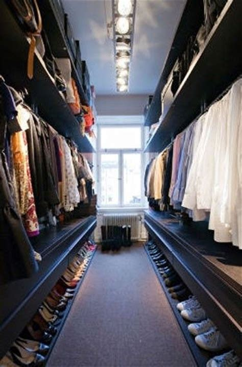 awesome small walk in closet organization lots of hanging