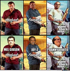 Gta V Main Characters' Celebrity Replacements by ...