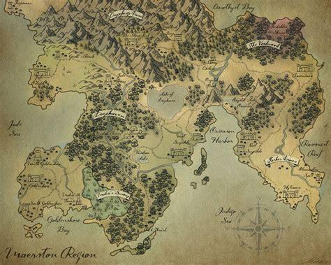 fantasy map maerston region  melissajp fantasy map