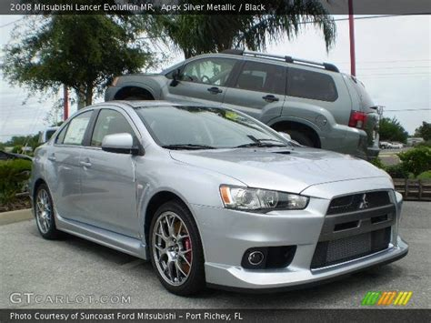 silver mitsubishi lancer black apex silver metallic 2008 mitsubishi lancer evolution mr