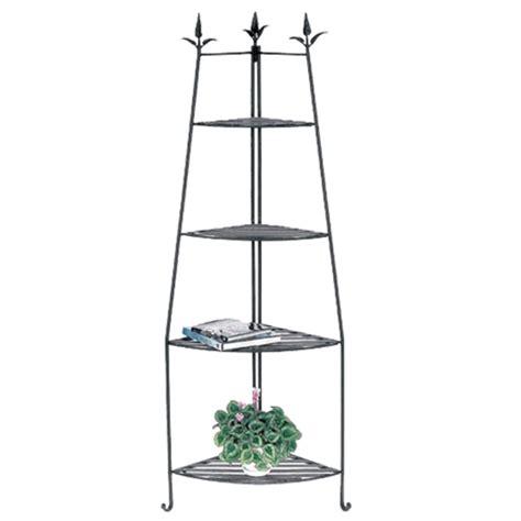Wrought Iron Corner Etagere by Achla Designs Shelf Corner Unit Slc02
