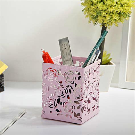 cute pen holder for desk cute hollow floral design pencil holder design pen holder