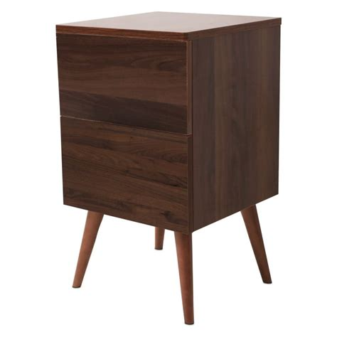 retro bedside table ls retro style wooden bedside table in walnut finish buy