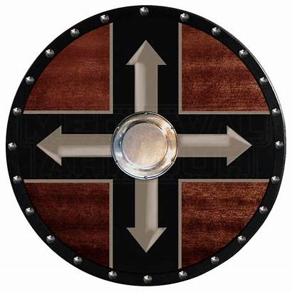 Viking Shield Berserker Wooden Arrows Four Shields