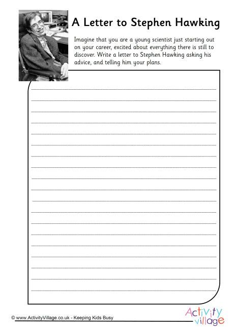 stephen hawking biography worksheet a letter to stephen hawking worksheet
