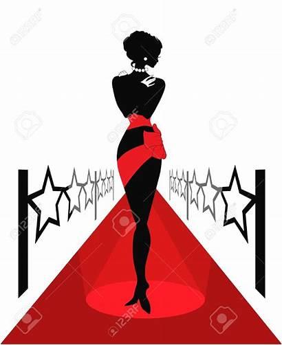 Silhouette Carpet Celebrity Clipart Actress Clip Woman
