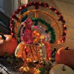 animated lighted thanksgiving turkey decoration outdoor 09 15 2007