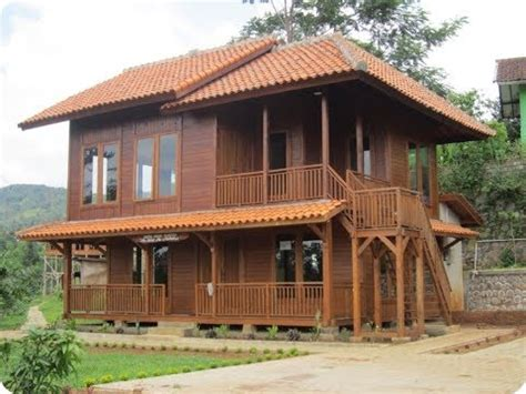 desain rumah  kayu ulin unik  moderen youtube