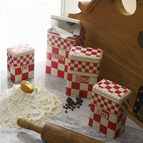 boite rangement cuisine comptoir de famille boite de rangement gigognes cuisine le lot de 4 assorties damier