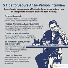 Five Tips To Secure An Inperson Interview