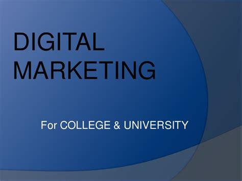 digital marketing college digital marketing for