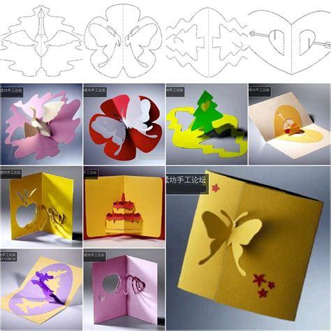 diy  kirigami greeting cards  templates