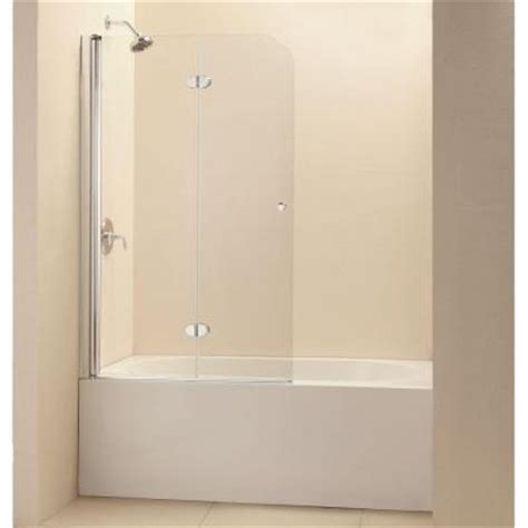 home depot bathtub doors dreamline aquafold 36 in x 58 in frameless pivot tub