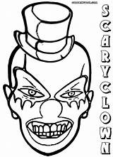 Clown Scary Coloring Pages Print Colorings Coloringway sketch template