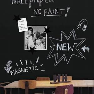 Papier Peint Magnétique : groovy magnets papier peint magn tique tableau noir ~ Premium-room.com Idées de Décoration