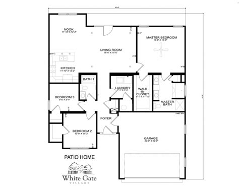 Floorplans Within Patio Home Plans Thehomelystuff