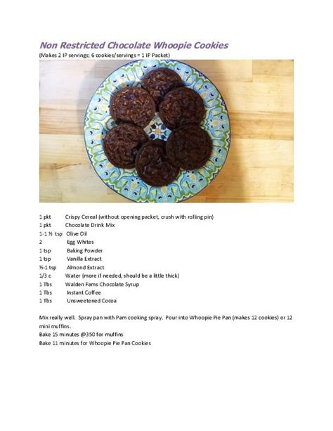 Ideal Protein Cookie Recipes