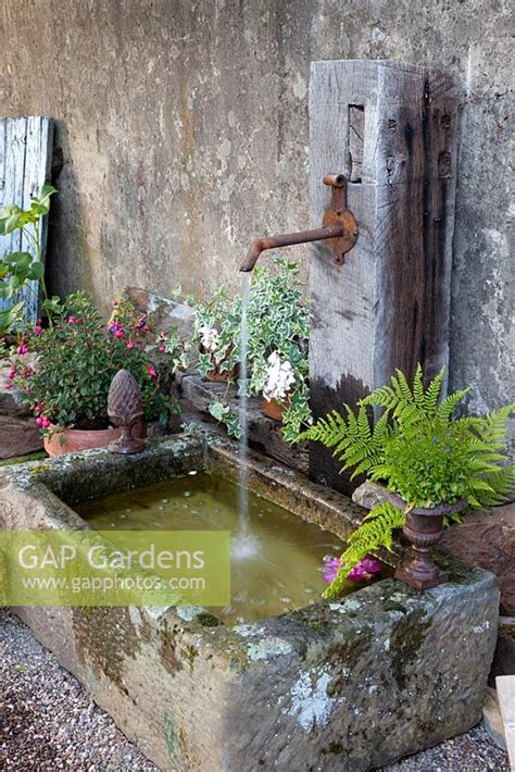 rustic garden features gap gardens rustic water feature image no 0173142 photo by elke borkowski