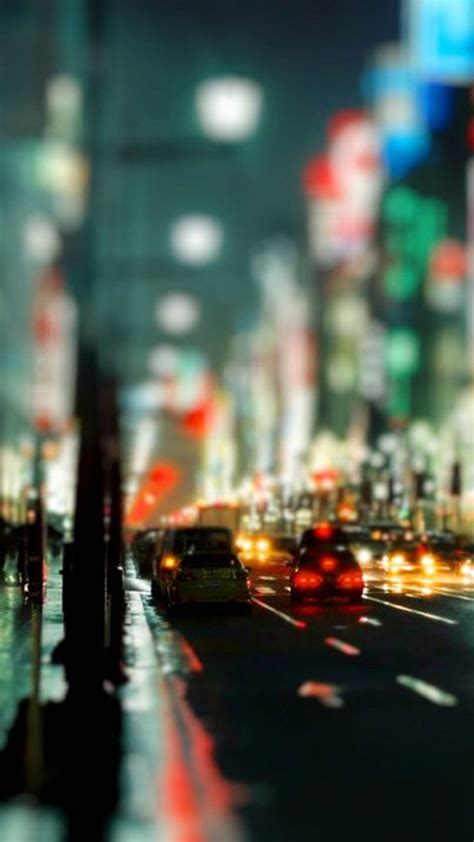 night light   city bokeh android wallpaper