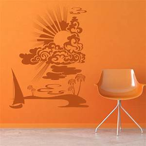 Beach seaside wall stickers iconwallstickers