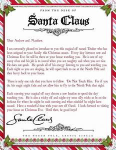 elf on the shelf arrival letter template sample letter With top santa letters