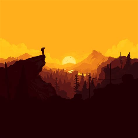 wallpaper firewatch sunset ps pc  games