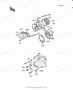 Kawasaki Motorcycle 1981 Oem Parts Diagram For Engine